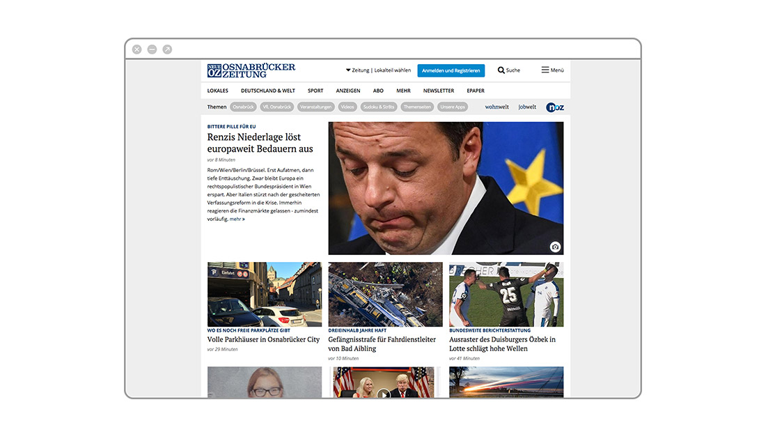 Neue Osnabrücker Zeitung Webansicht