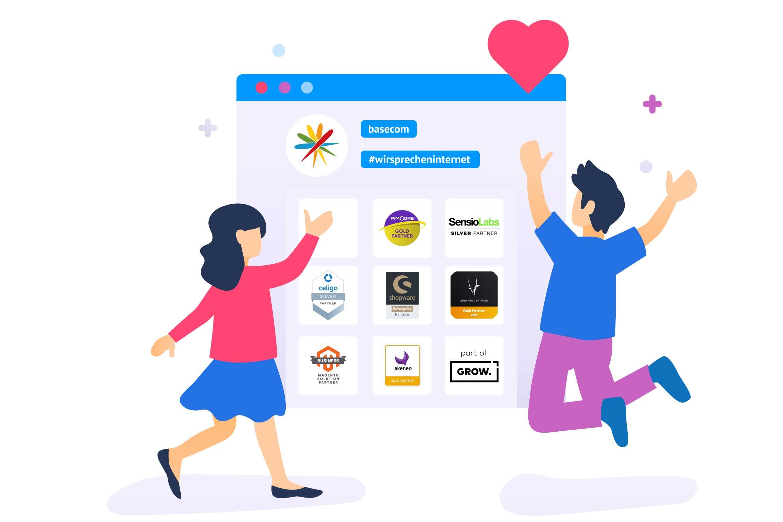 Online-Shop: Partnerschaften