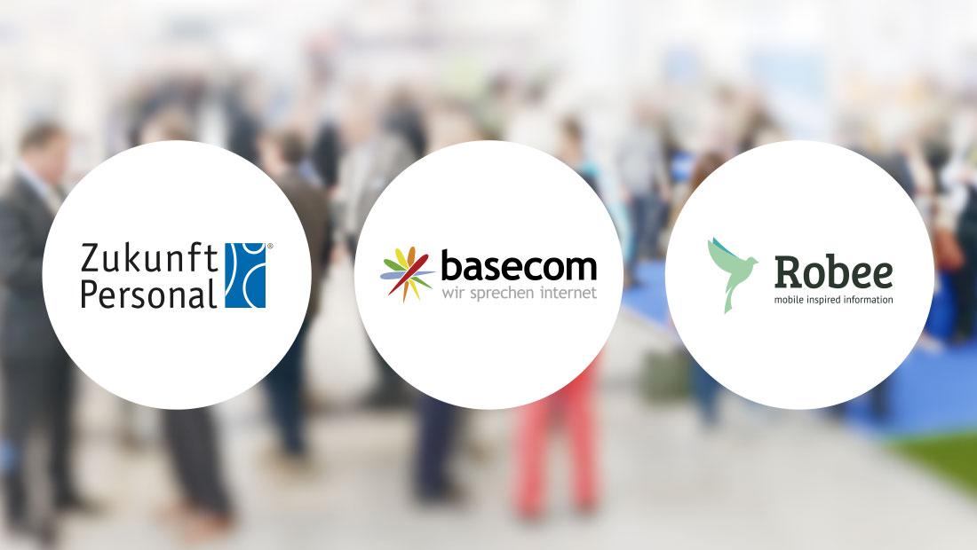 Zukunft Personal, basecom, robee Logos