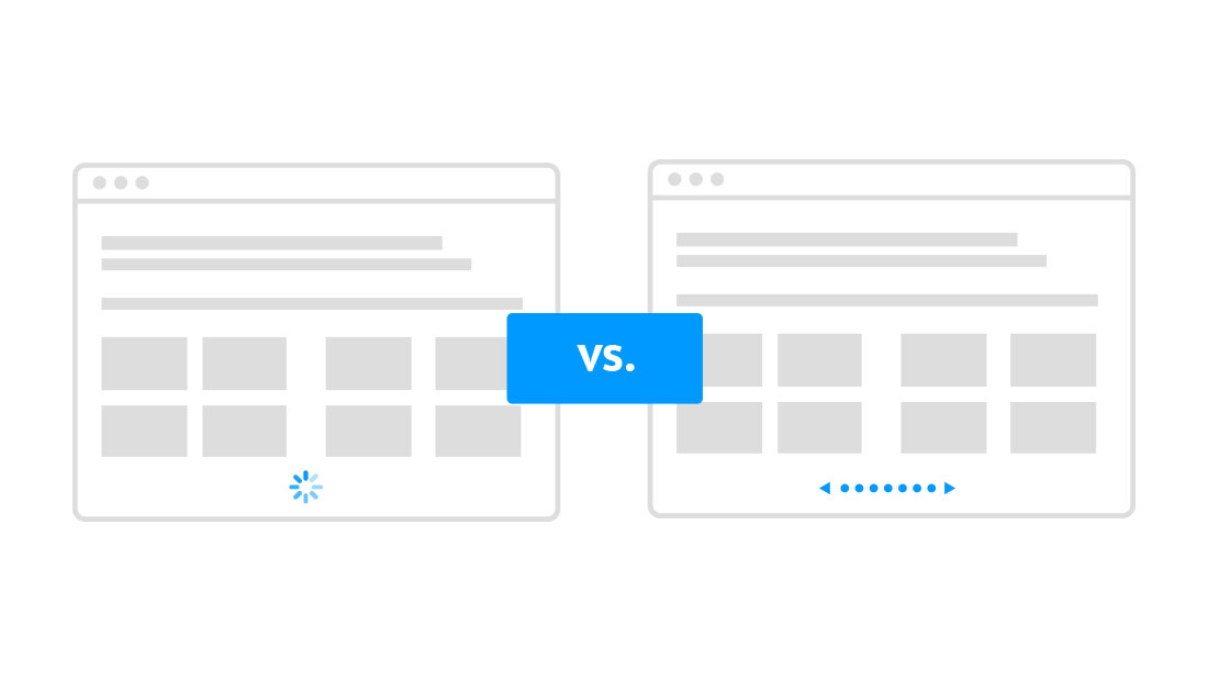 Scrolling vs Pagination
