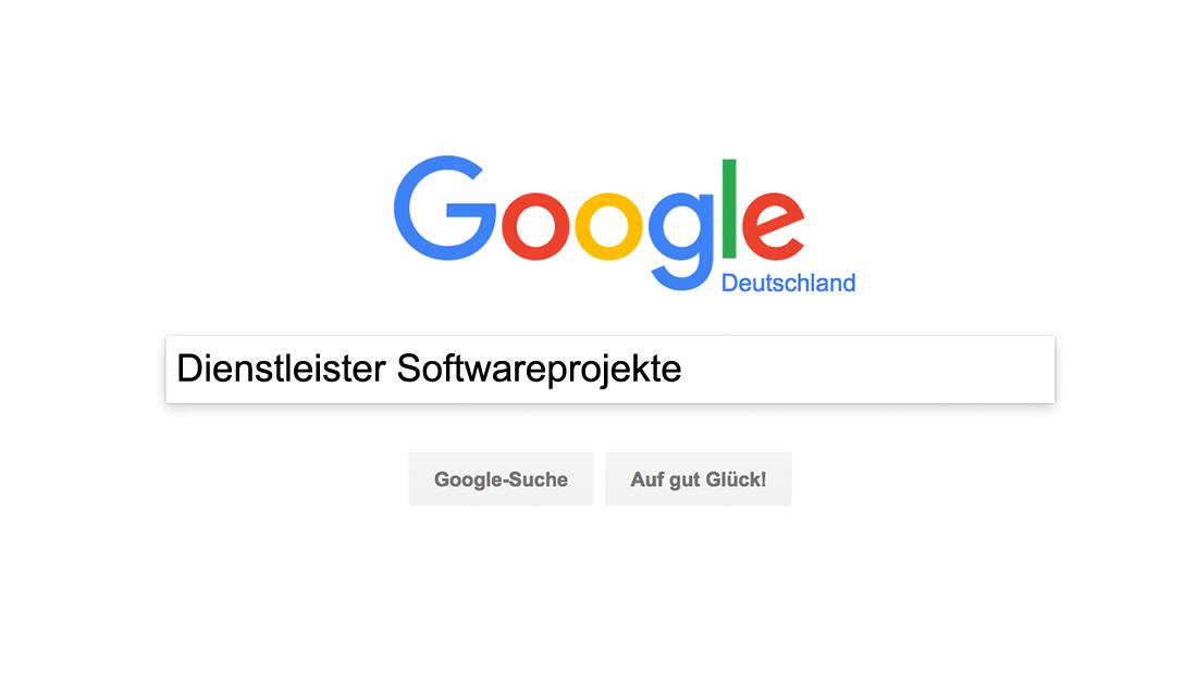 Google Dienstleister Softwareprojekte