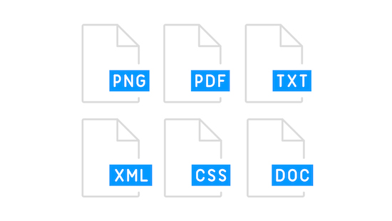 PNG PDF TXT XML CSS DOC