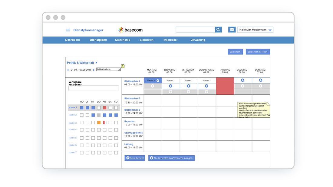 Dienstplanmanager basecom