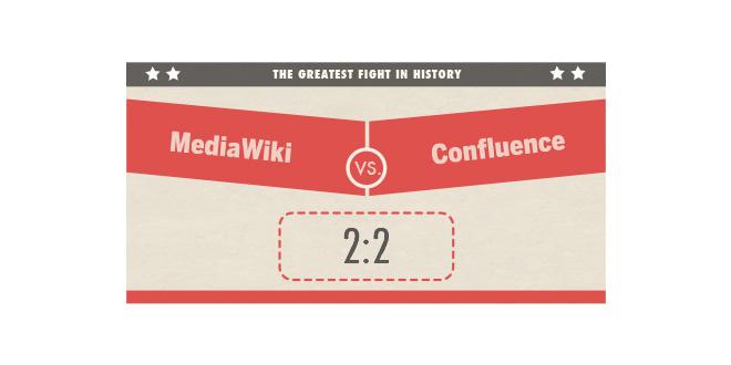 MediaWiki vs. Confluence 2:2