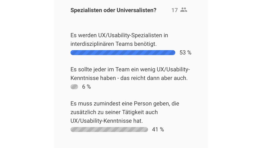 Spezialisten oder Universalisten?
