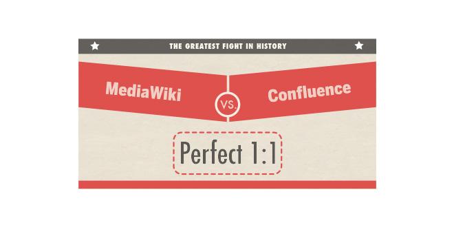 MediaWiki vs. Confluence 1:1