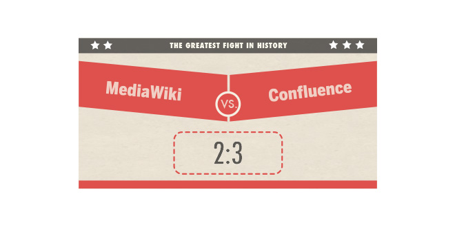 MediaWiki vs. Confluence 2:3