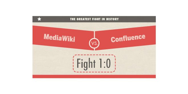 MediaWiki vs. Confluence 1:0