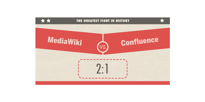 MediaWiki vs. Confluence 2:1