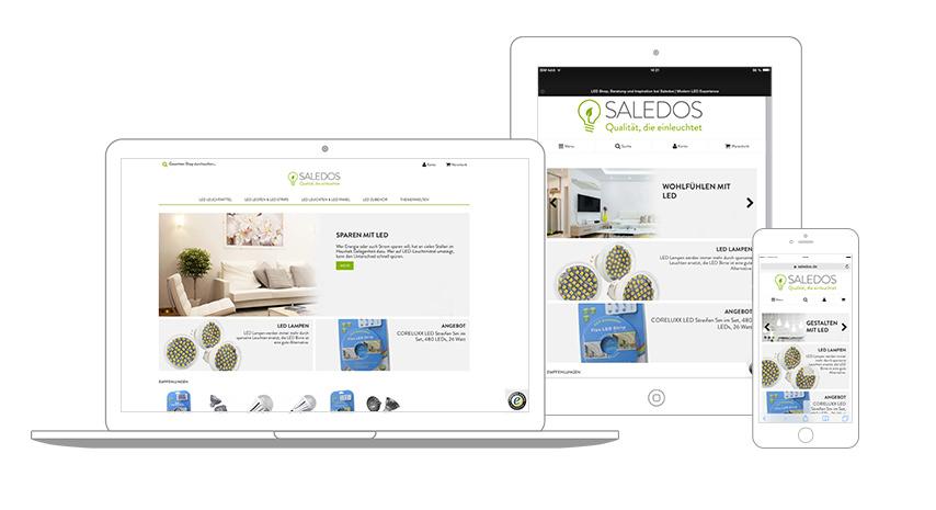 Saledos Ansicht Website Responsiv