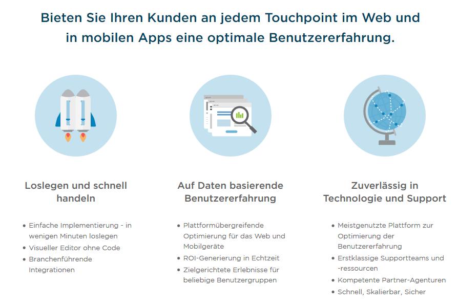Bieten Sie Ihren Kunden an jedem Touchpoint im Web und in mobilen Apss eine optimale Benutzererfahrung