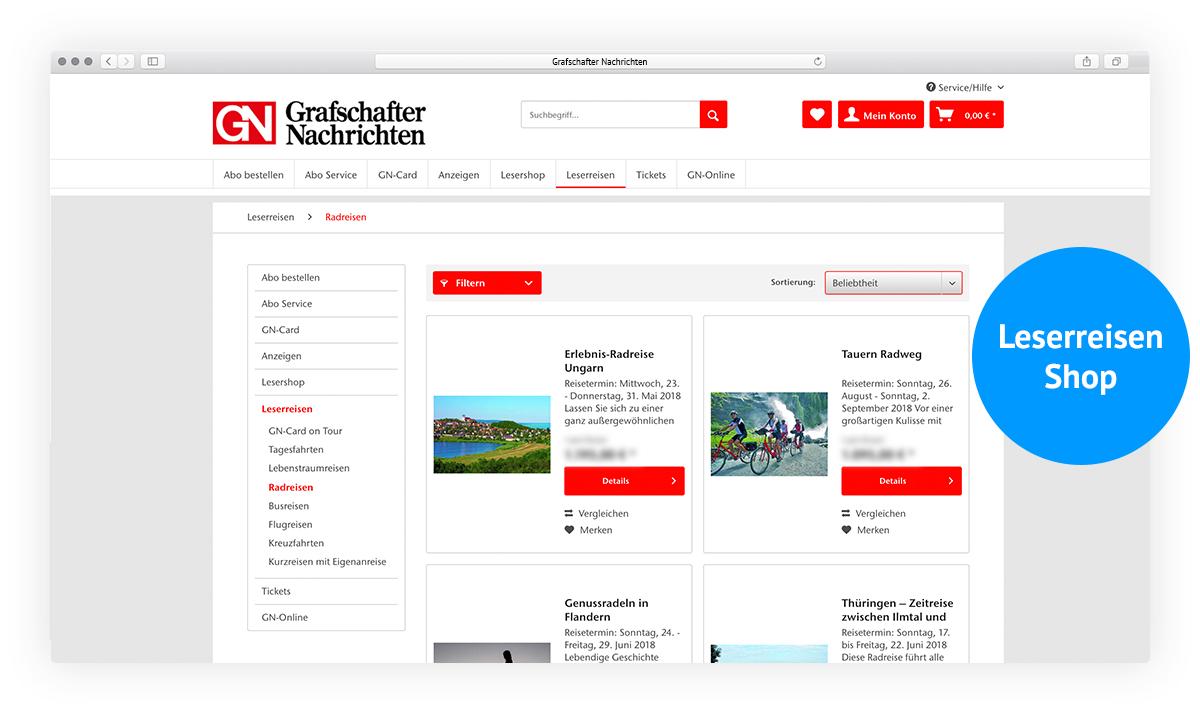 Grafschafter Nachrichten Website