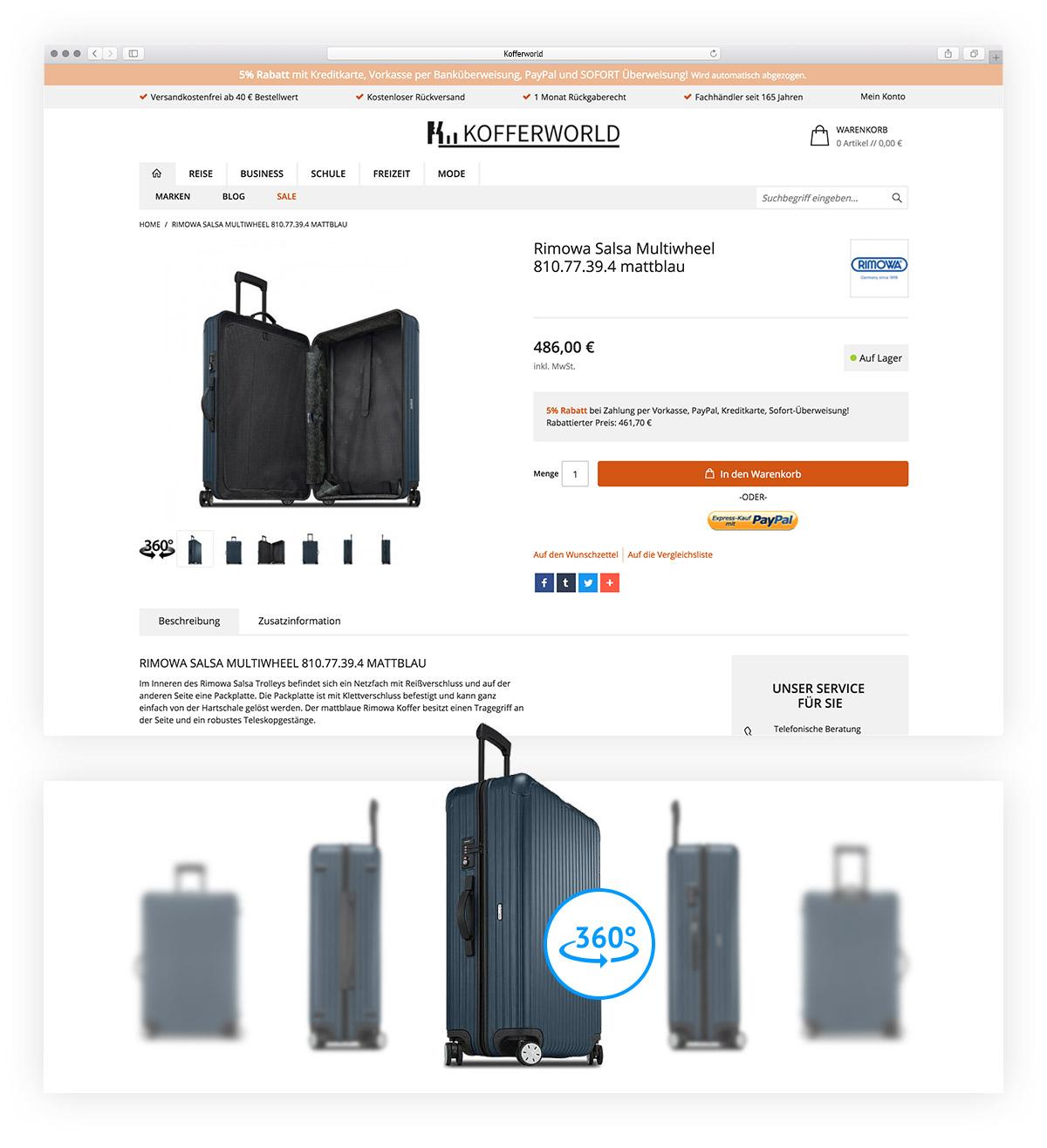 Kofferworld Website