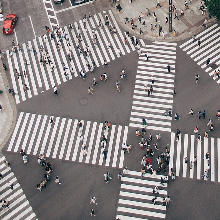 Straße Zebrastreifen