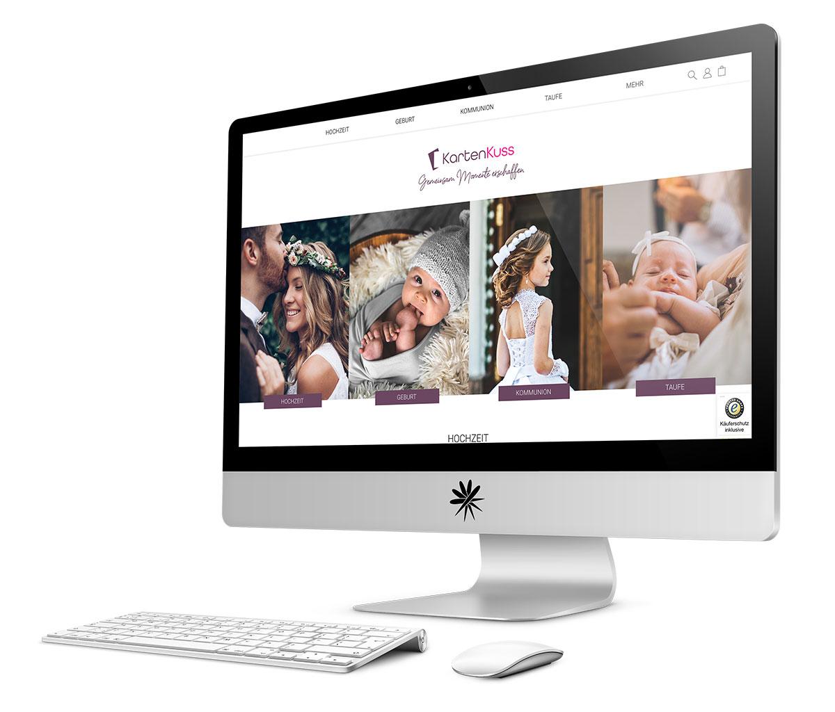 Projekt Kartenkuss B2C-Webshop Shopware 6