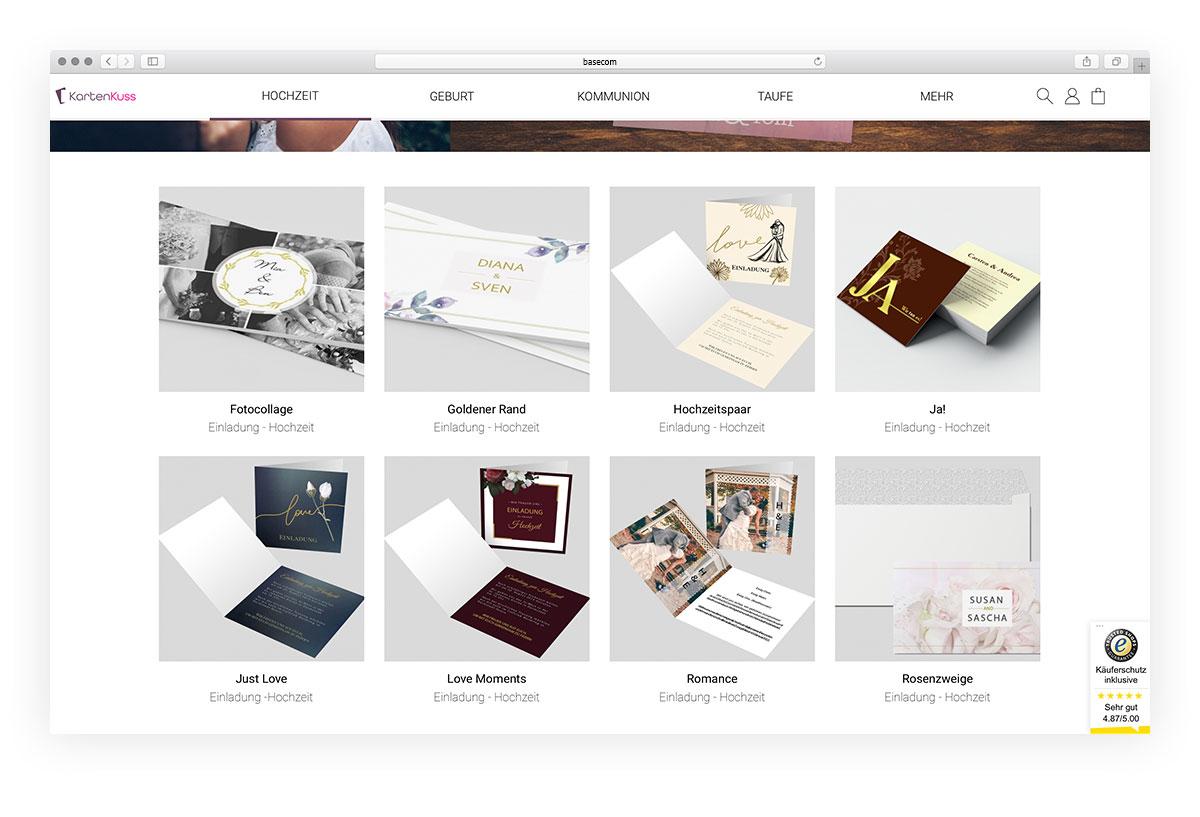 Projekt Kartenkuss Onlineshop Shopware 6