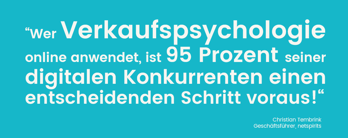 Verkaufspsychologie im Online-Marketing