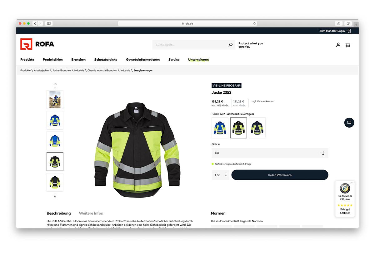 Onlineshop ROFA Shopware 6