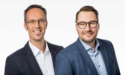 Daniel Pruhs und Simon Heine