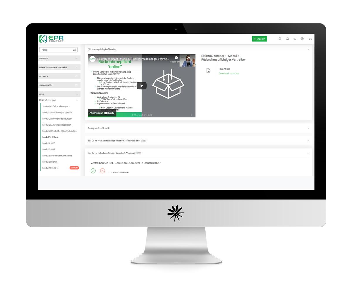 EPR compact Referenz Portalentwicklung